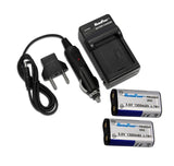 2 Pieces Camera Batteries + Charger Combo for Kodak CRV-3