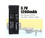 Replacement LiPo Battery 3.7V 1200mAh for Drone X Pro RC Drone