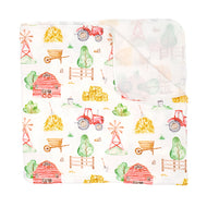 Imagine Stretchy Swaddle Blanket - Little Farmer