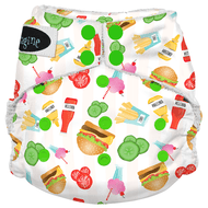 Imagine One Size Snap Bamboo All in One Diaper - Dine n' Dash
