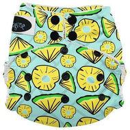 Imagine One Size Snap Bamboo All in One Diaper - Pineapple Pop