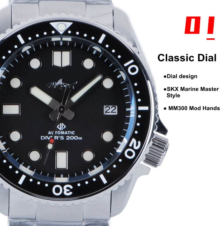 heimdallr sharkey marine master skx 007 mod dive watch