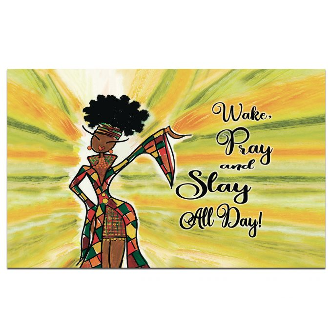 Wake Pray And Slay All Day interior Floor Mat