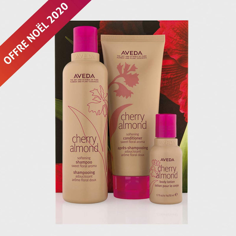 Cherry Almond Your softest Hair & Skin - Aveda Salon de coiffure Geneve