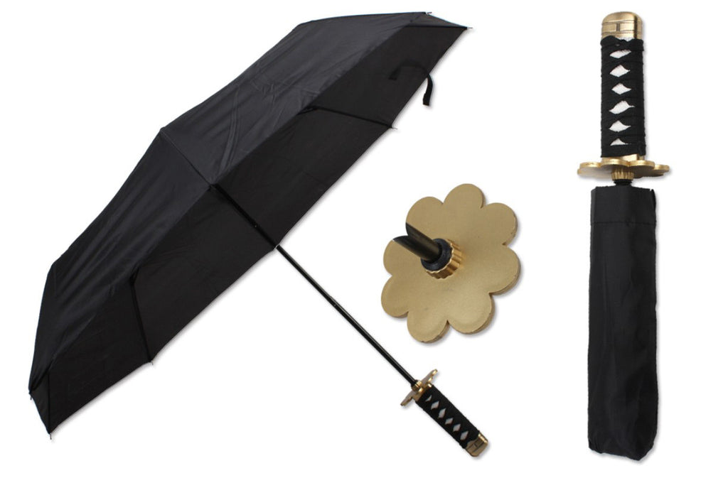 "14 1/2""  black samurai handle umbrella"
