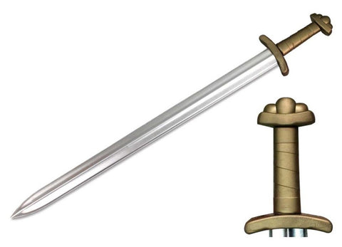"39.5"" Viking Sword w/ Metallic Chrome Finish on Blade"