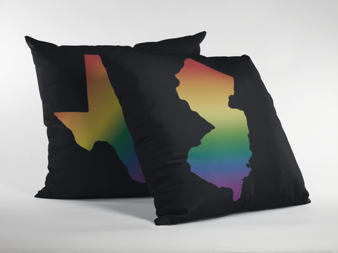 State Pride Rainbow Gradient Premium Pillow - Black
