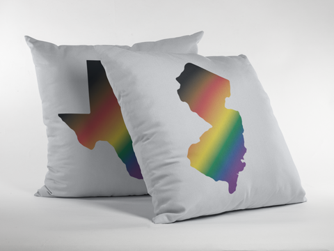 State Pride More Color More Pride Rainbow Gradient Premium Pillow - White