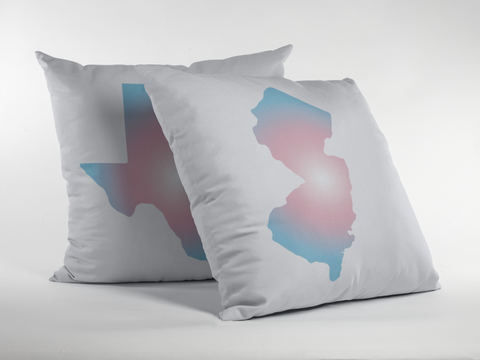 State Pride Transgender Flag Gradient Premium Pillow - White