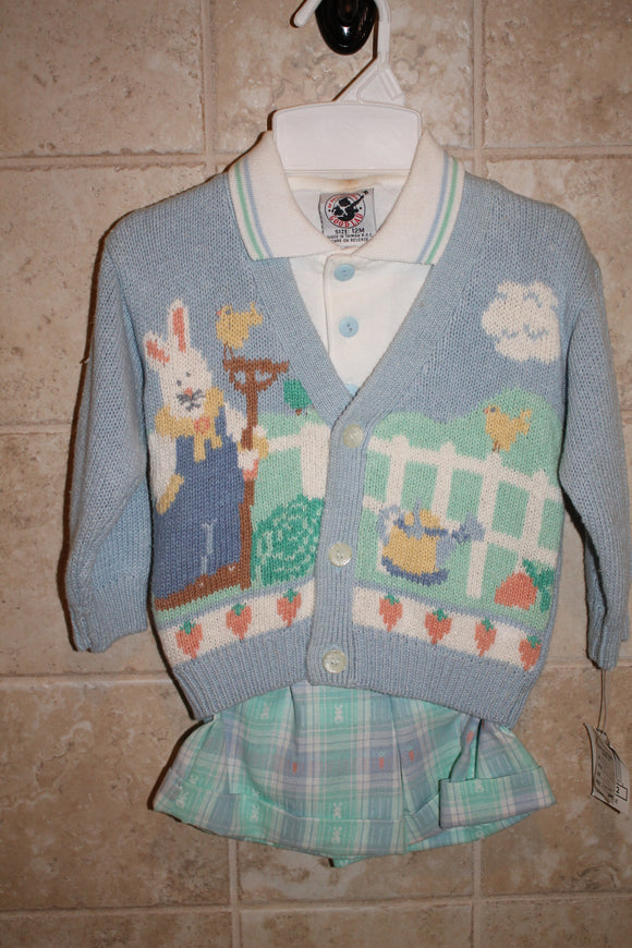 Easter Short set with cardigan