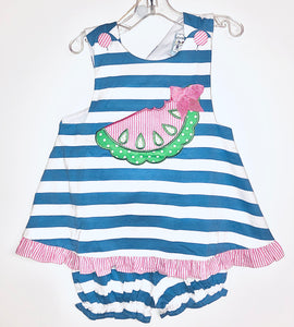 Blue stripe Watermelon Bloomer Set