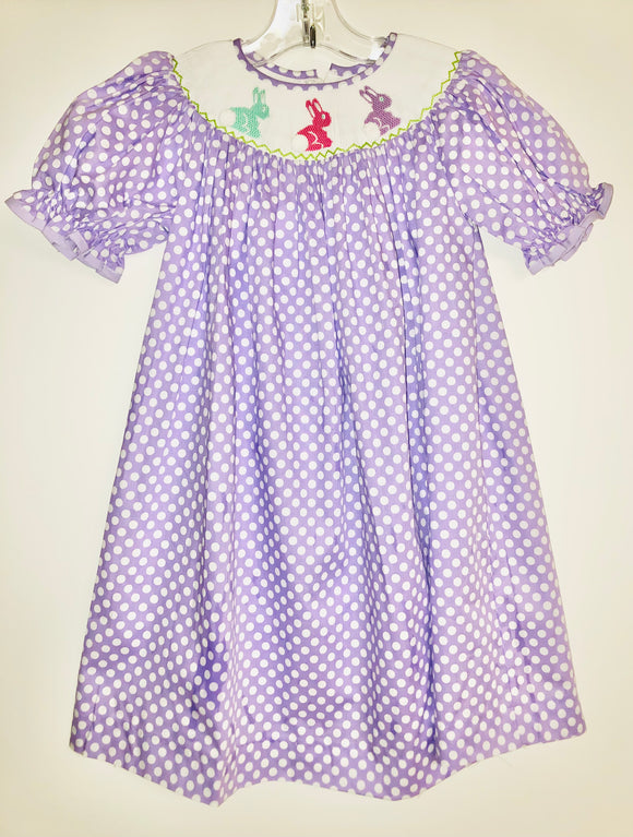 Purple dot Bunny Dress
