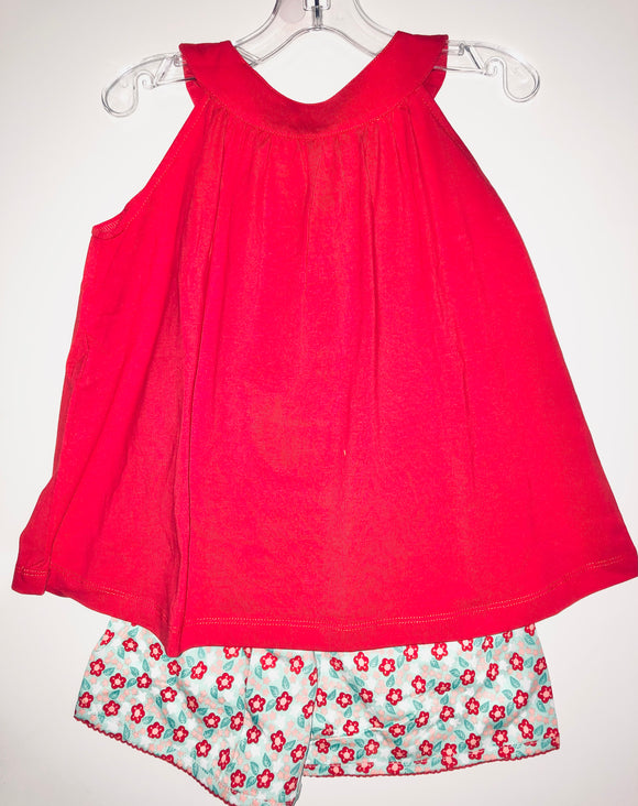 Red Poppies Short Set