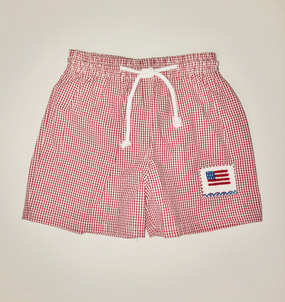 Flag boys swim suit