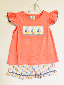 Sail Away Girls Short Set
