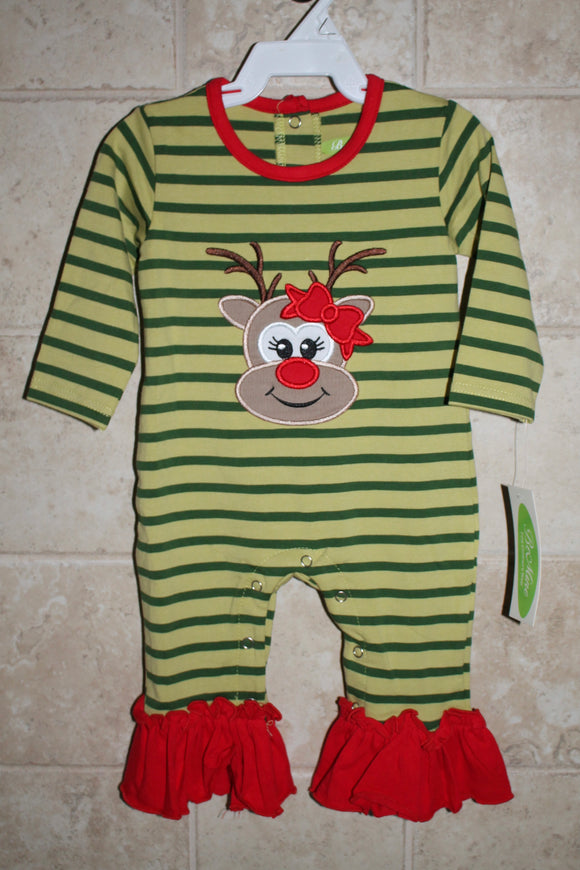 Girls Reindeer Romper
