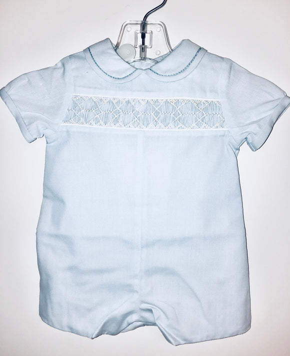 Light blue smock romper