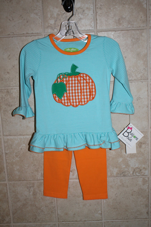 Pumpkin infant legging set