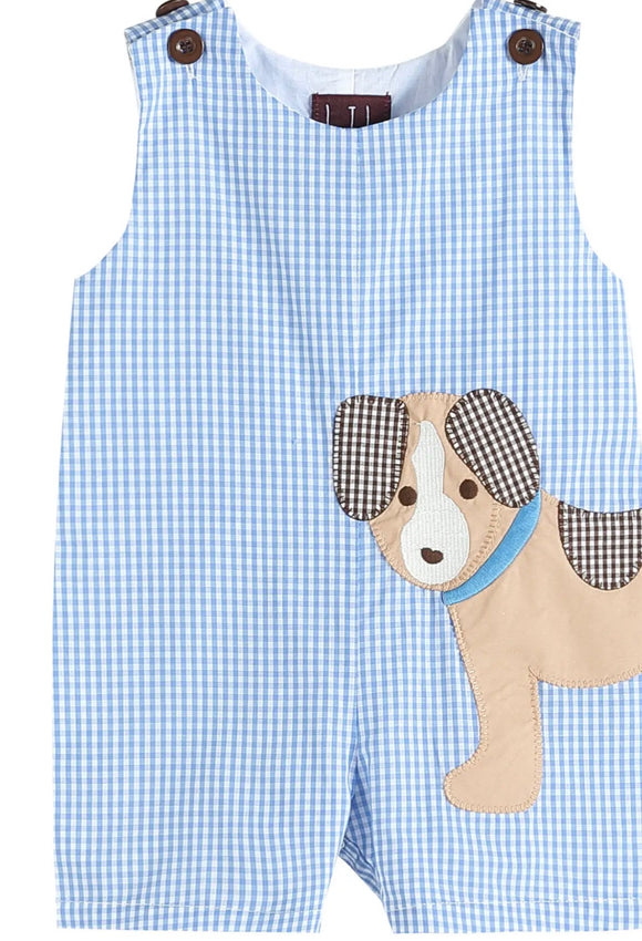 Blue Gingham Dog Jon-Jon
