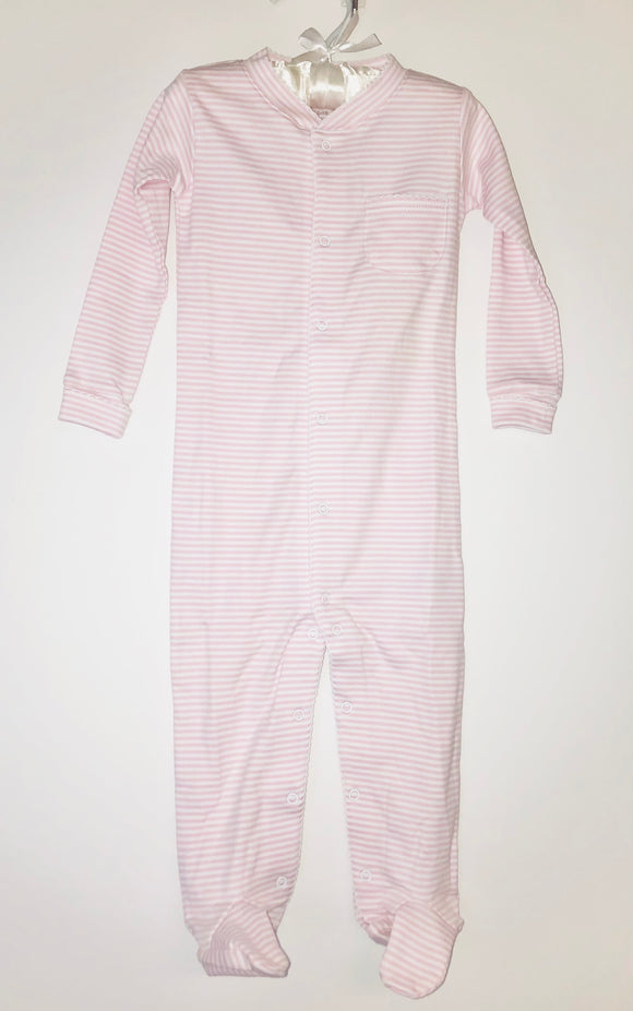 Simple Stripe footed pj