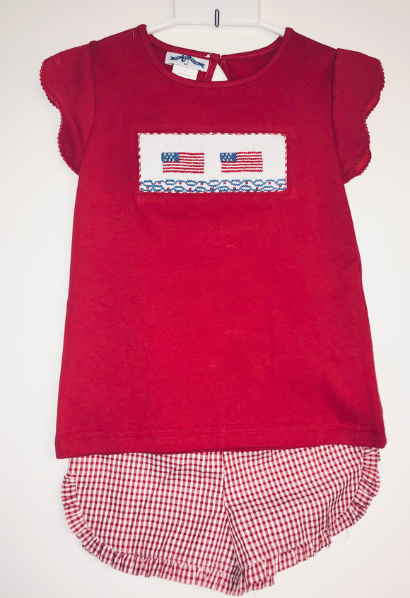 American Flag girls short set