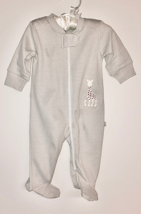 Gray stripe giraffe zip sleeper