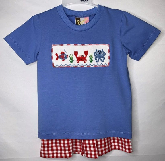 Sea life Boys short set