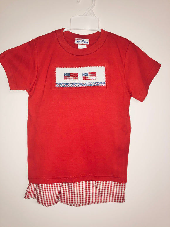 American Flag Boys Short Set