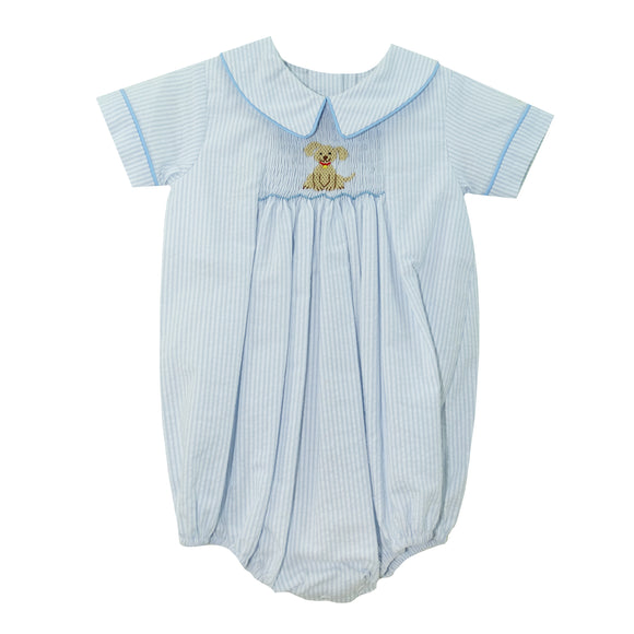 Blue Check puppy Romper