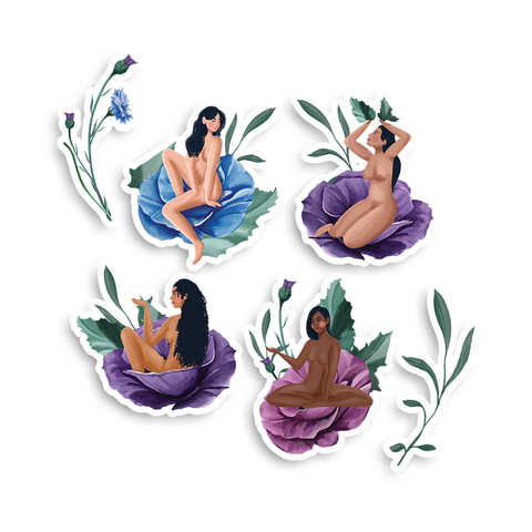 Wild Women Laptop Sticker Pack