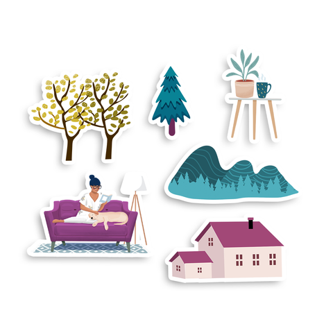 Mountain Home Laptop Sticker Pack