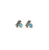 Bon Bon Crystal Earrings Turquoise/Graphite Cluster