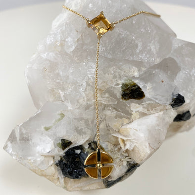 Native Sun Citrine & Yellow Sapphire Necklace