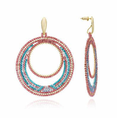 Azuni Beaded Circle Earrings