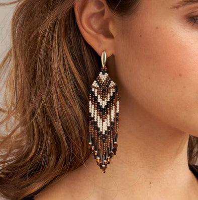 Azuni Beaded Fringe Earrings