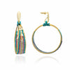 Azuni Beaded Hanging Hoop Earrings