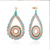 Azuni Chula Beaded Statement Earrings Fiesta