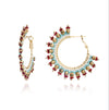 Azuni Navajo Beaded Hoop Earrings