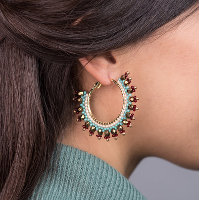 Azuni Navajo Beaded Hoops