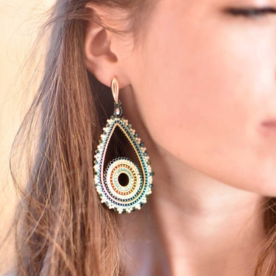 Azuni Chula Beaded Statement Earrings