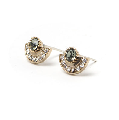 Lovers Tempo Arc Black Diamond Earrings