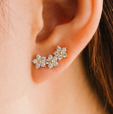 Lover's Tempo Blossom Ear Climber Earrings