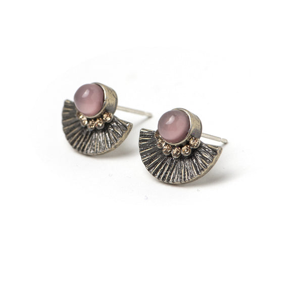 Brisé Stud Earrings Pink