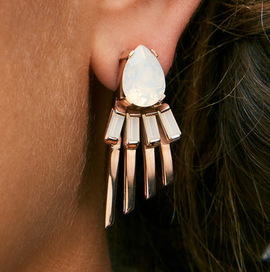 Cabinet Studios Opal and Rose Gold Earrings