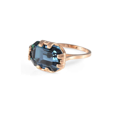 Cabinet Studios Montana Crystal & Rose Gold Beetle Ring