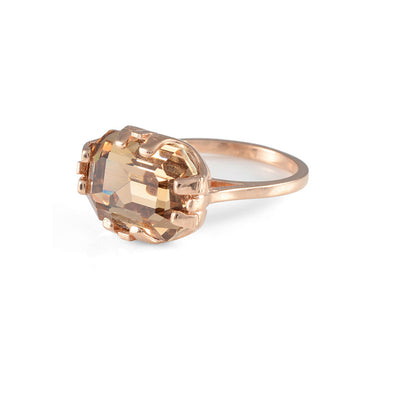 Cabinet Studios Rose Gold Beetle Ring with Swarovski Crystal