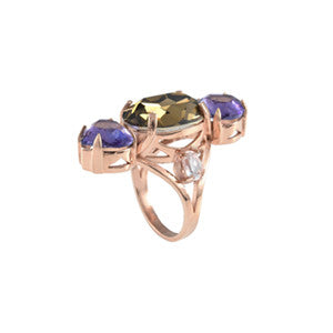 Cabinet Studios Tanzanite & Rose Gold Ring