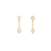Comme Ci Comme Ca Chain Earrings