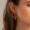 Sibilia Small Hypnosis Bar Coral Earrings