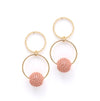 Lovers Tempo Countdown Gold Hoop Earrings